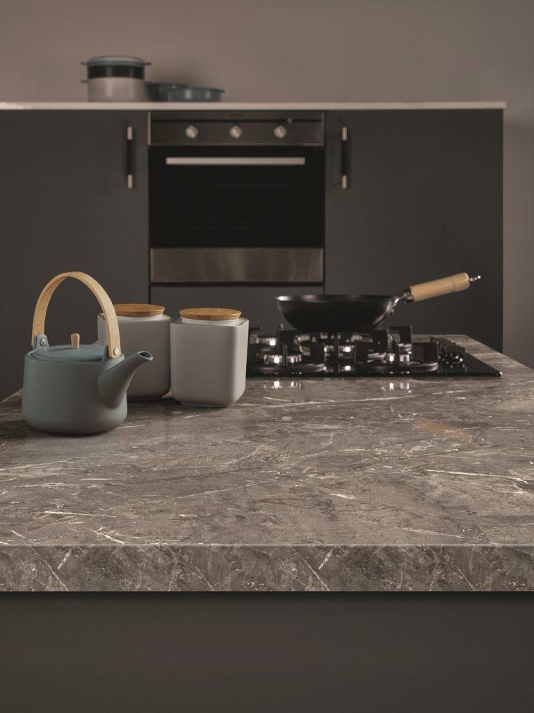 Omega Cirrus Marble Work Surface Lifestyle Image