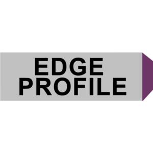 Standard chamfer edge profile
